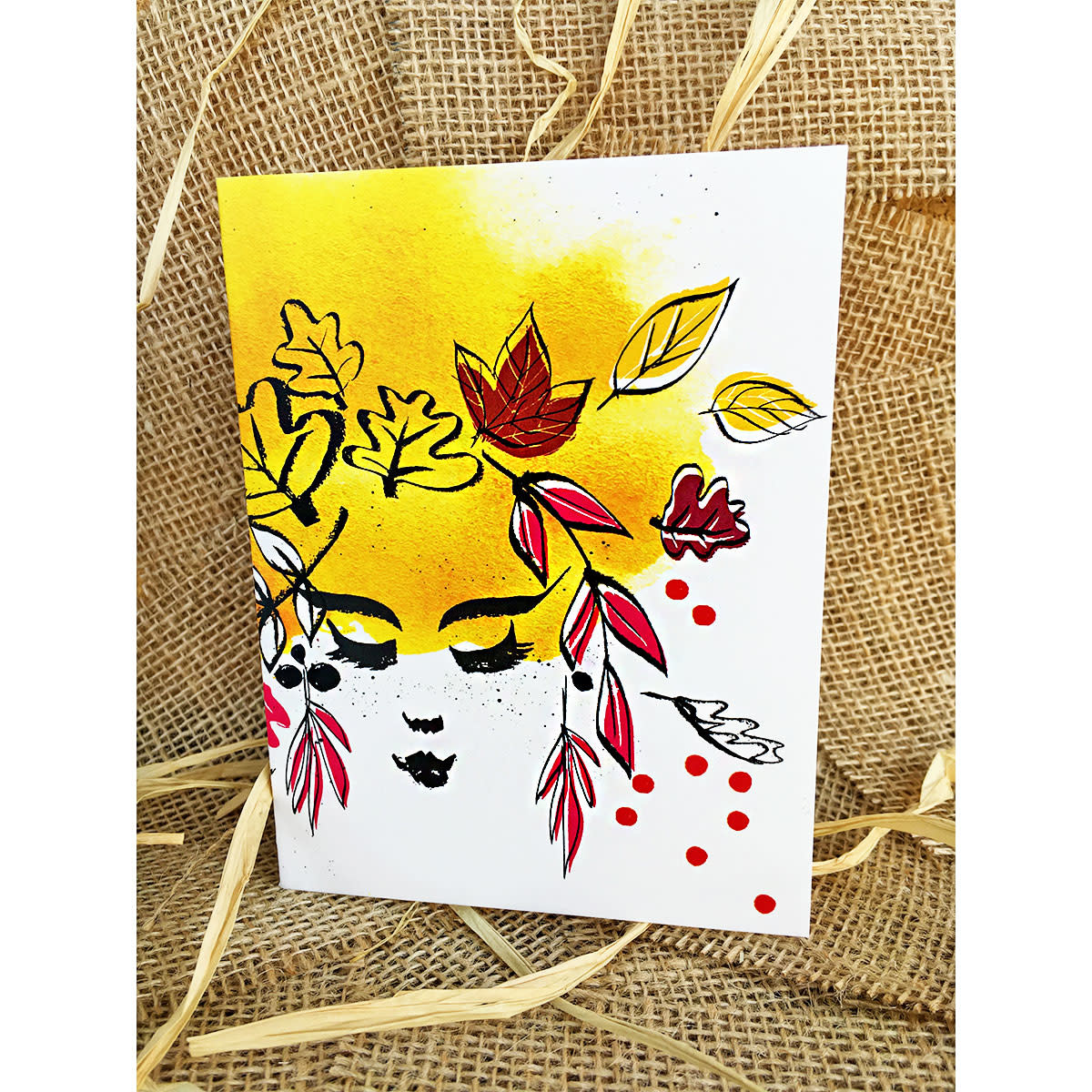 An Open Sketchbook Mother Nature Leaves Greeting Card