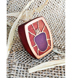 Studio AMF Giant Red Velvet Mite Bug Ring - 30% off listed price!