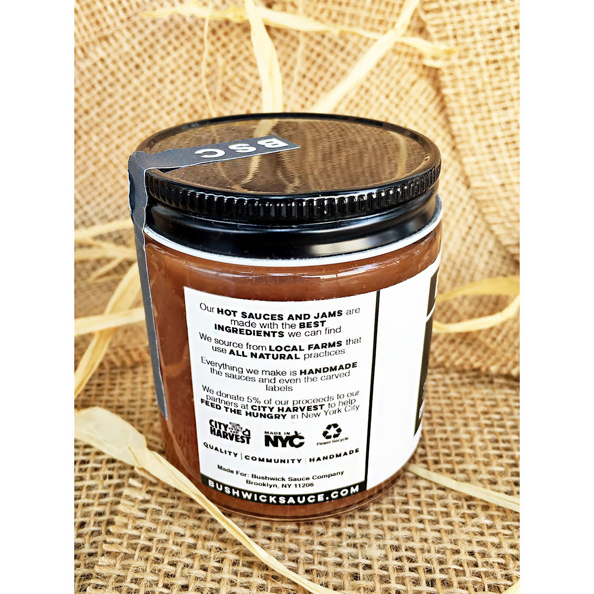 Bushwick Sauce Company Brown Sugar Apple Butter - 4oz. Jar