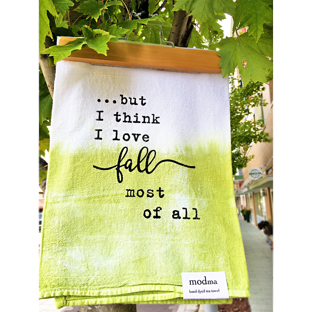 MODma Goods Love Fall Most Of All Tea Towel