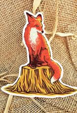 The Bungaloo Fox & Tree Sticker