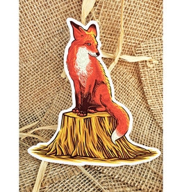 The Bungaloo Fox & Tree Sticker