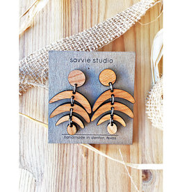 Savvie Studio Wooden Fern Dangle Earrings