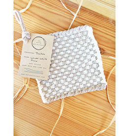 Kate Kilmurray Winter White + Flax Trivet