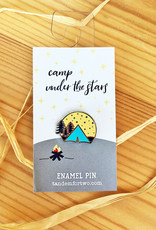 Tandem For Two Camp Under The Stars Enamel Pin
