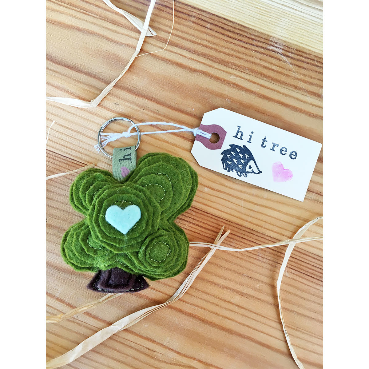 hi tree! Oak Tree Keychain