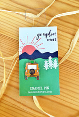 Tandem For Two Go Explore Jeep Enamel Pin