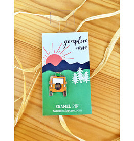 Tandem For Two / Gather Home Go Explore Jeep Enamel Pin