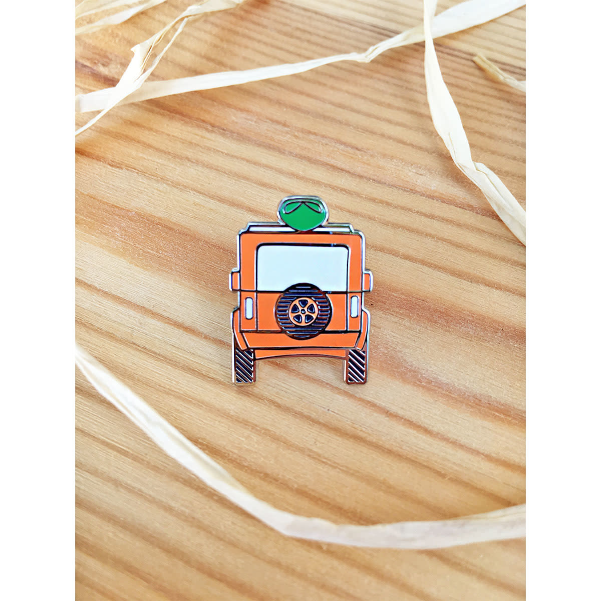 Gather Home / Tandem For Two Go Explore Jeep Enamel Pin