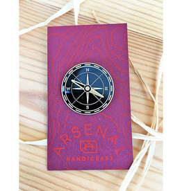 Arsenal Handicraft Black + Brass Compass Pin