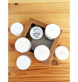 Landet Studio / KoenigCo. / Sunshine Raindrop Bergslagen Amber Oakmoss Tea Lights - Set of 6