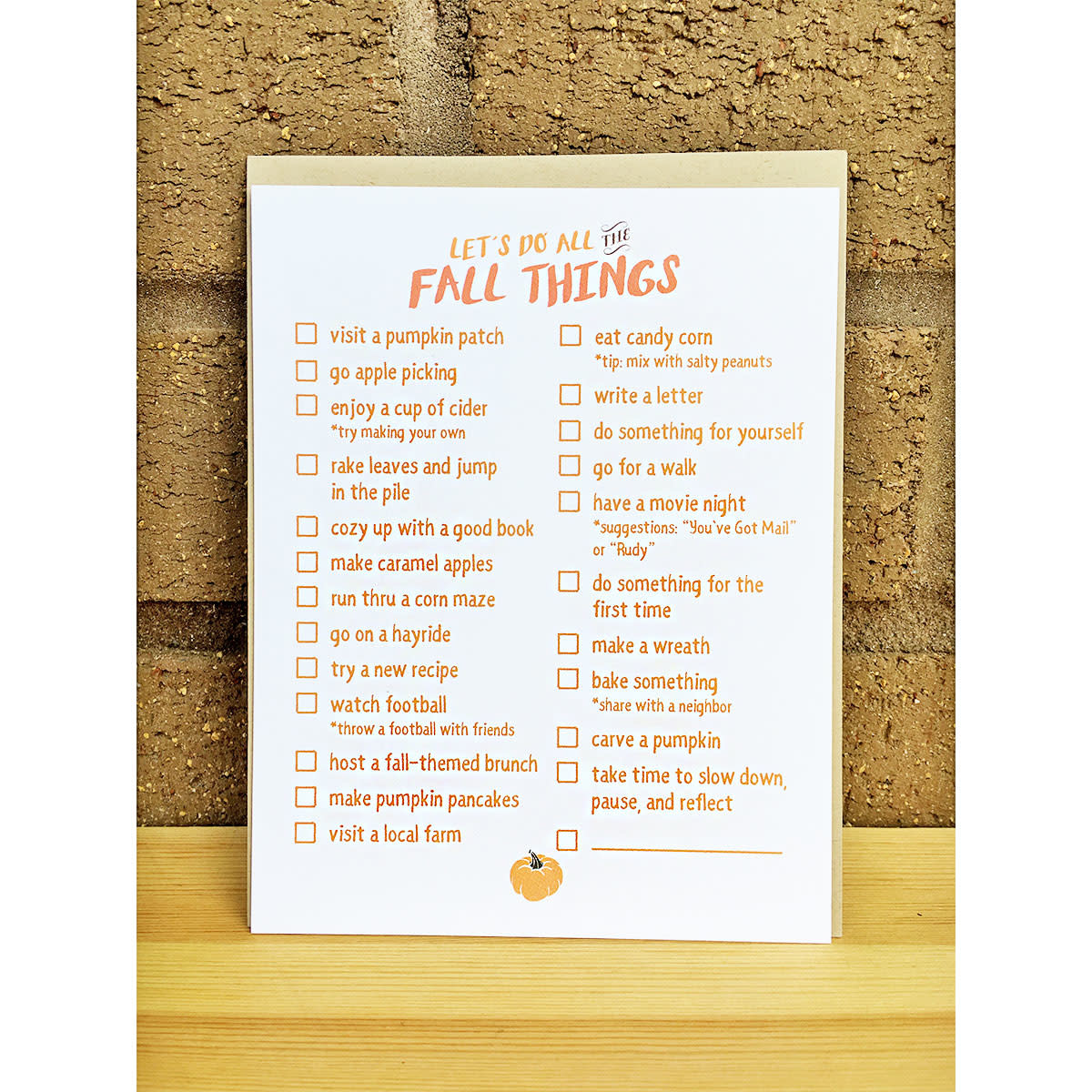 Haven Paperie Let's Do All The Fall Things Notecard