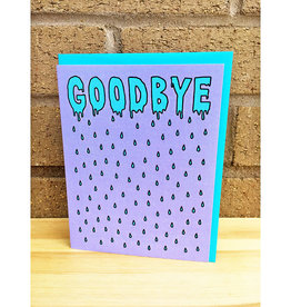 Band of Weirdos / Moss Love Rainy Goodbye Purple Greeting Card