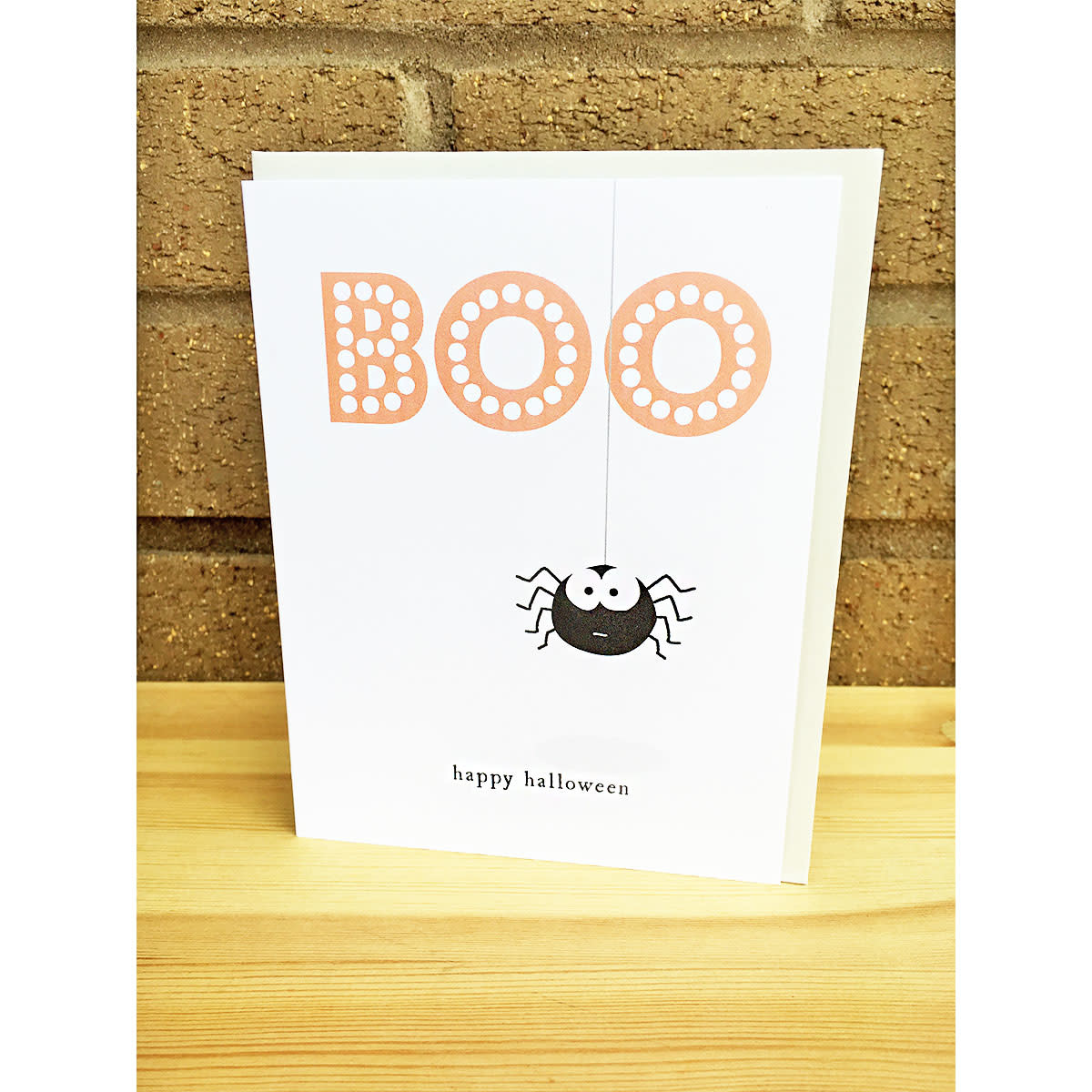 Haven Paperie Boo Spider Greeting Card
