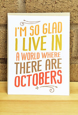 Haven Paperie World Where There Are Octobers Notecard