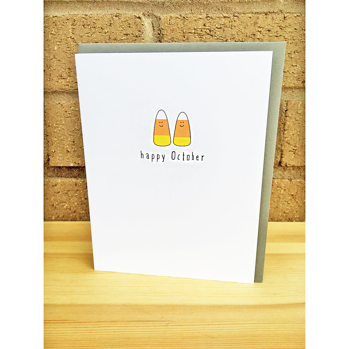 Haven Paperie Happy October Candy Corn Greeting Card