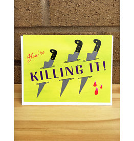 Pearl & Marmalade Killing It Flat Print Greeting Card