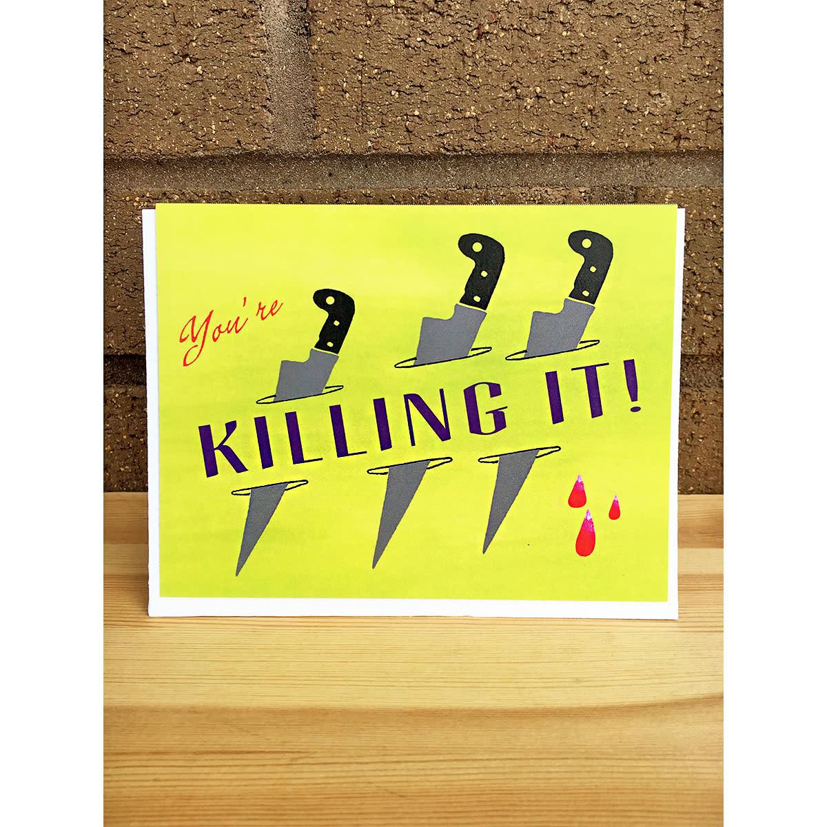 Pearl & Marmalade Killing It Flat Print Greeting Card
