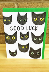 Big Wheel Press Good Luck Black Cats Greeting Card