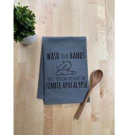 Moonlight Makers Prevent The Zombie Apocalypse Tea Towel