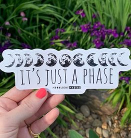 Moonlight Makers Just A Phase Moons Sticker