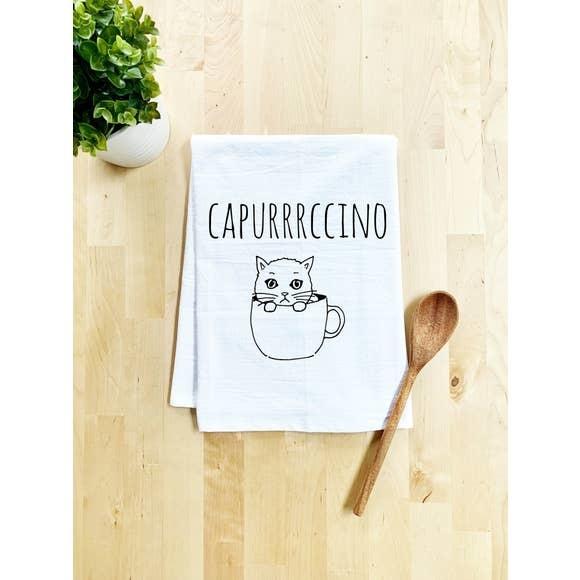 Moonlight Makers Cappurrrccino Cat Tea Towel