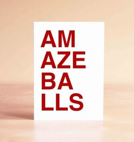 Sad Shop Amazeballs Block Letter Greeting Card