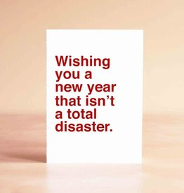Sad Shop New Year That Isn't A Disaster Greeting Card