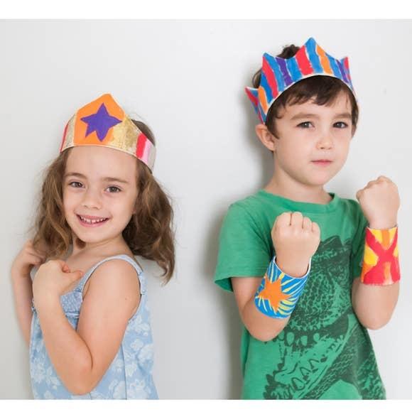 Lovelane Paint Your Own: Super Hero Cuffs Kit