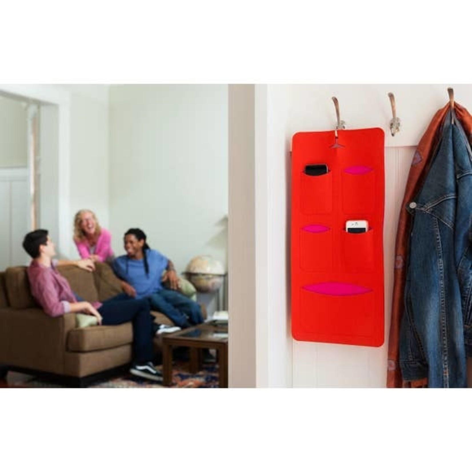 mobilhome Stone/Orange Merino Wool Tech Organizer