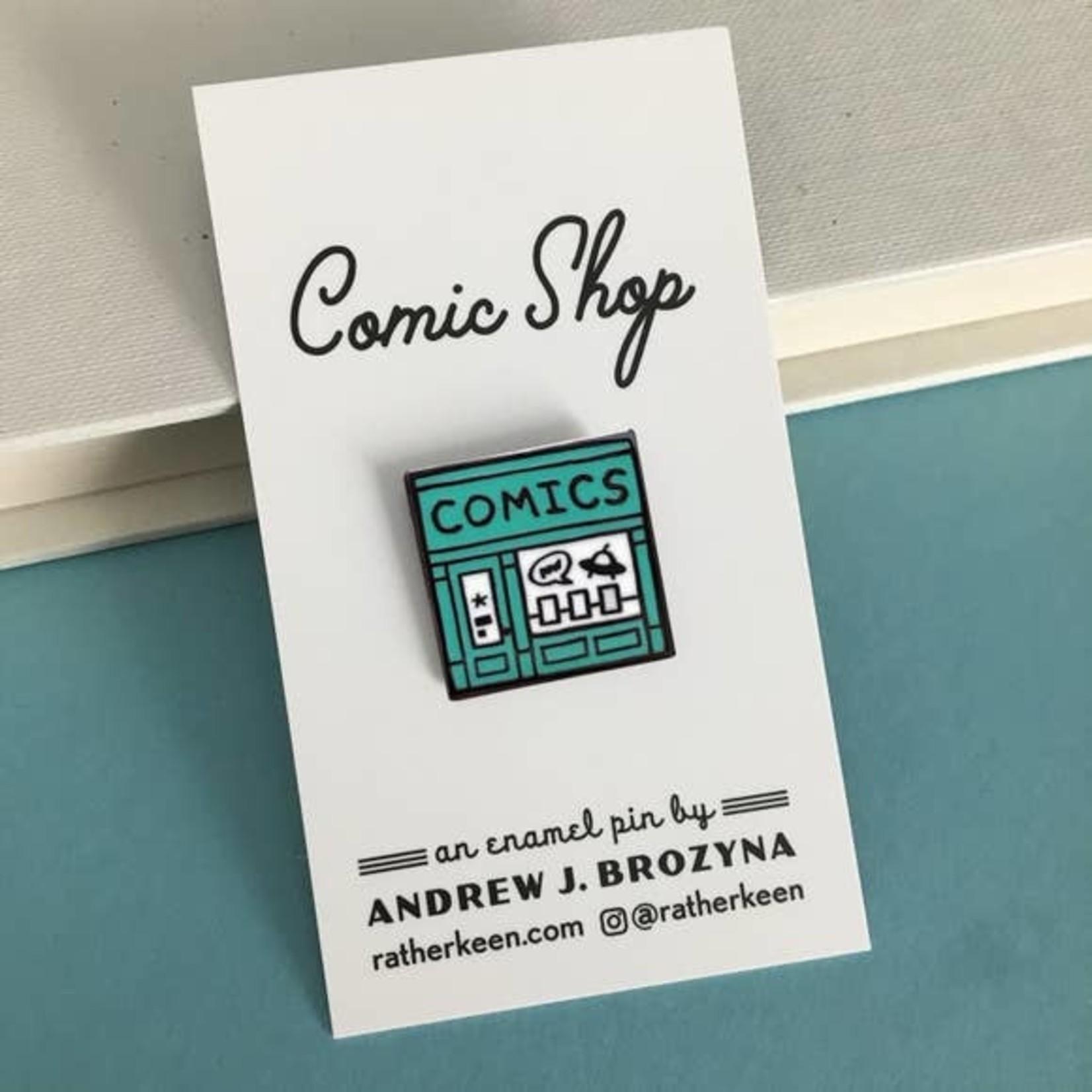 Rather Keen Comics Shop Enamel Pin