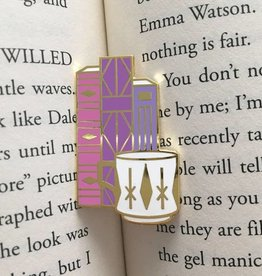 Rather Keen Geometric Books + Mug Enamel Pin