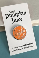 Rather Keen Pumpkin Juice Cap Enamel Pin