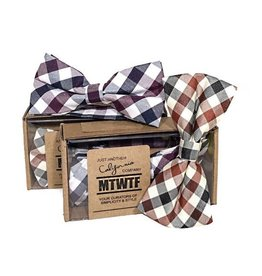 MTWTF Woven Bow Tie - Purple Plaid