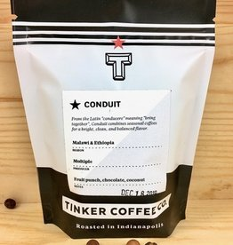 Tinker Coffee Co. Conduit - Malawi + Ethiopia Whole Bean Coffee - 4oz Bag