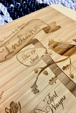 Gooseberry Designs Small Indiana Engraved Bamboo Cutting Board