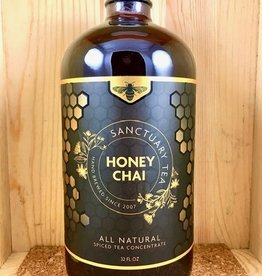 Sanctuary Chai Traditional Honey Chai Glass Gift Bottle - 32 fl.oz.
