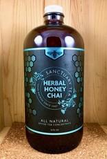 Sanctuary Chai Decaf Herbal Honey Chai Glass Gift Bottle - 32 fl.oz.