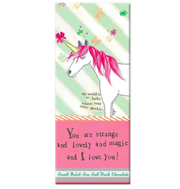 Curly Girl Design Unicorn Sea Salt Dark Chocolate Bar