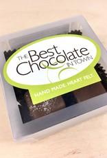 The Best Chocolate In Town Milk Chocolate + Milk Sea Salt Caramels 4pc. Box