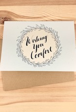 Champaign Paper Wishing You Comfort Wreath Greeting Card