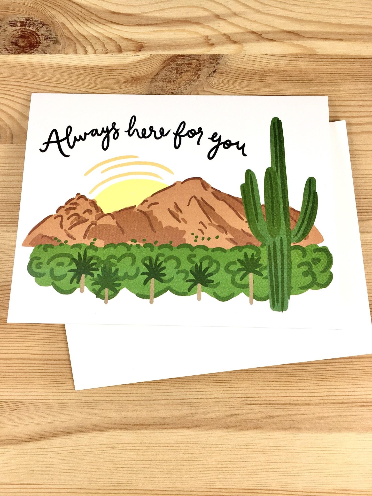 Bloomwolf Studio Always Here Mountains Greeting Card