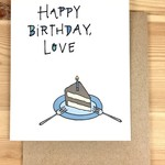 Lacelit Happy Birthday, Love (Cake) Greeting Card
