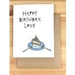 Lacelit Happy Birthday, Love (Cake) Greeting Card