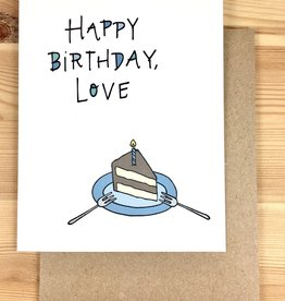 Lacelit Happy Birthday, Love Greeting Card