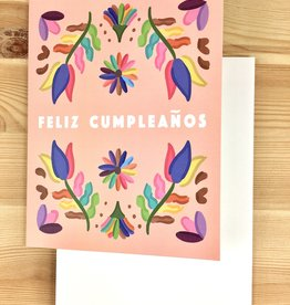 Bloomwolf Studio Folk Birthday Feliz Cumpleanos Greeting Card