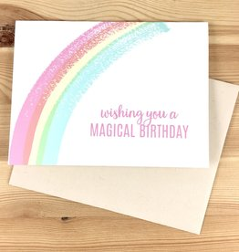 Pearl & Marmalade Magical Rainbow Birthday Greeting Card