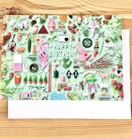 Imaginary Animal Tiny Things Birthday Collection Greeting Card