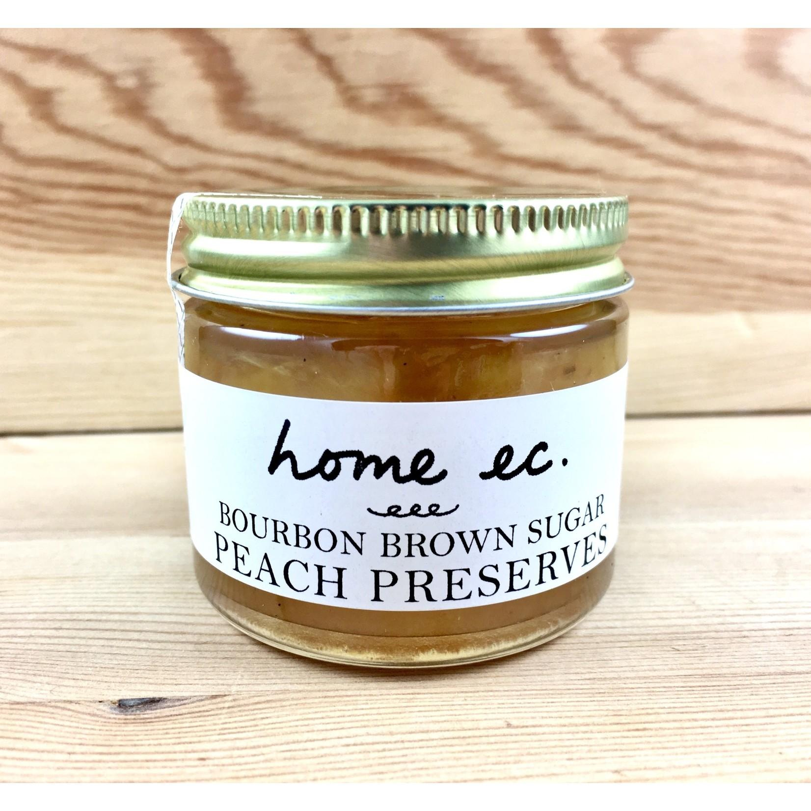 Home Ec. Bourbon Brown Sugar Peach 2oz. Preserves