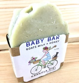 Granola Girl Skincare /Teehaus Bath + Body Baby Bar - Goat's Milk + Honey Soap
